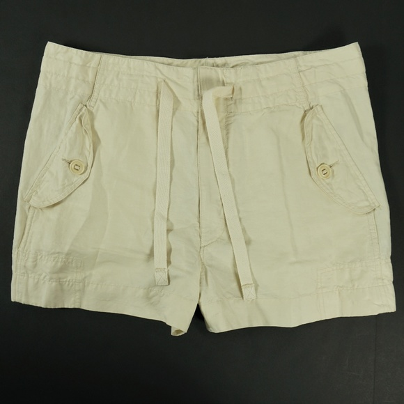 dd75132289 Vince Shorts | Cargo Cream Linen Size Large | Poshmark